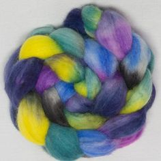 Wonderful new fibre blend, carefully hand painted with safe acid dyes.colour Countisbury, a beautiful place where these sheep graze.,