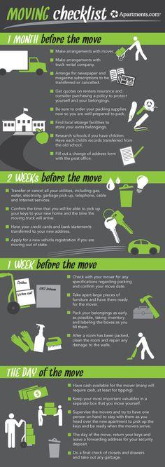 Apartments.com Moving Checklist