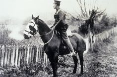 Today marks 100 years since the Somme and we remember the pivotal role we played in reducing the suffering of animals forced to serve in the war. This photo shows an RSPCA Inspector who was working with the Army Veterinary Corps in France. The photograph is undated, but was taken circa 1915. #history #battleofthesomme #animalhistory