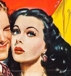 Subject of a new documentary, the world's most beautiful—and smartest—movie star, as seen in poster art. Golden Age Of Hollywood, Vintage Hollywood, Hedwig, Vintage Illustration Art, Illustrations, Nights In White Satin, Hedy Lamarr, Classic Actresses, Retro Art