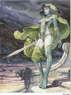 Gamora - Milo Manara pour les Gardiens de la Galaxy