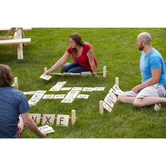 For families who love word games AND spending time outside... Crafted from all natural Southern Yellow Pine, the Word Tussle wood tiles are sanded to a smooth finish. Similar to other grid word games, form words with each letter tile, building on opposing player's words vertically or horizontally, and gain points by the color levels of each tile played.