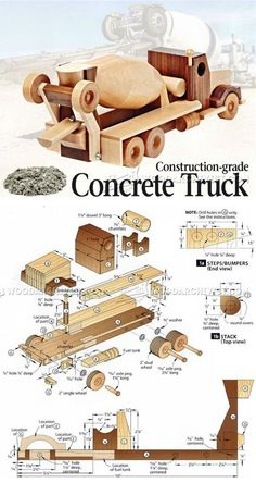 Wooden Concrete Truck Plans - Wooden Toy Plans and Projects | WoodArchivist.com