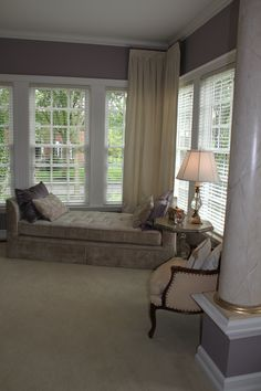 My sitting area in Master Bedroom.  Show light, softness and color working together for a sanctuary effect