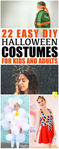 22 Easy DIY Halloween Costumes for Kids and Adults - These are the best DIY Halloween costume ideas on the Internet! So easy and so cheap.