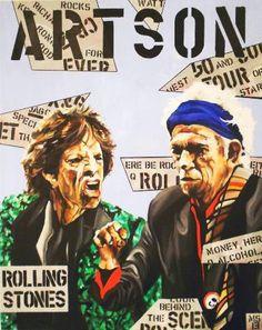 "Saatchi Art Artist Martin Georg Sonnleitner; Painting, ""ARTSON Rolling Stones"" #art Saatchi Online, Keith Richards, Magazine Art, Rolling Stones, Saatchi Art, Pop Culture, Pop Art, Artist, Artwork"