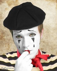 99 Trend Example for Mime MakeUp Ideas – Halloween Costumes Mime Halloween Costume, Halloween Circus, Circus Costume, Halloween Makeup, Halloween Face, Mime Makeup, Costume Makeup, Mime Marceau, Theatrical Makeup