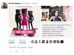 People Tree. Emma Watson designed two collections for People Tree. www.peopletree.co.uk. via LOOK