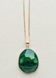 Emerald Genuine Quartz Necklace