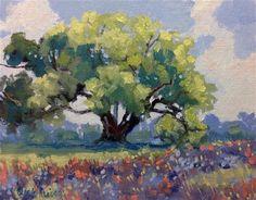 """Cottonwood Tree"" - Original Fine Art for Sale - © Linda Blondheim"