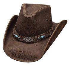 83f8370d04856e Montecarlo Bullhide Hats ROYSTON Top Grain Leather Western Cowboy Hat