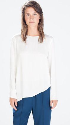 Zara cream asymmetrical top