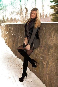 фото красивых девушек в сапогах на каблуке