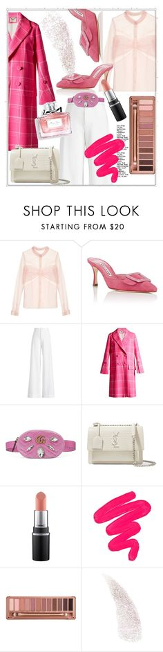 """""""Untitled #743"""" by elenkajaia on Polyvore featuring Mary Katrantzou, Manolo Blahnik, Ralph Lauren Collection, Fendi, Gucci, Yves Saint Laurent, Sigma, Urban Decay, Christian Dior and contestentry"""