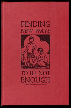 new ways to be not enough
