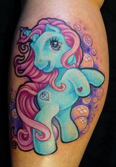 Unicorn pony plan tattoo with my wifey