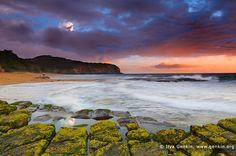 landscapes stock photography   Dramatic Sunrise at Turimetta Beach, Turimetta Beach, Sydney, NSW, Australia