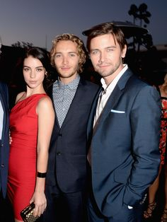 Adelaide Kane and her leading men,Tony Regbo and Torrance Coombs  - CW, CBS And Showtime 2013 Summer TCA Party - Inside -- Jason Merritt/Getty Images North America, © 2013 - Livingly Media, Inc. -- Zimbio.com