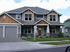 craftsman home with brown shakes - Google Search