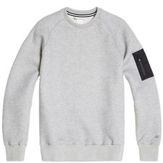 Nike White Label NSW Pocket Crew (Light Grey Heather & Black)