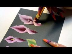 урок 5.2часть. Рисуем каллы - YouTube Acrylic Painting Techniques, Painting Videos, Painting Lessons, Art Lessons, China Painting, Tole Painting, Fabric Painting, Painting & Drawing, Art Floral