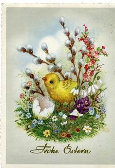 Германия,1967 год Easter Show, Spring Images, Easter 2020, Vintage Easter, Vintage Pictures, Vintage Cards, Happy Easter, Easter Eggs, Decoupage