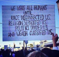 I still find it amazing how some people continue to perpetuate such damaging divisions in order to conquer. Especially calling themselves races when only one race exist; the human race.