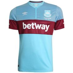 Blue West Ham Away Kit 2015-16 WHUFC Alternate Shirt 15-16