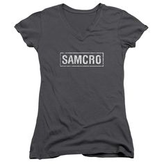 "Checkout our #LicensedGear products FREE SHIPPING + 10% OFF Coupon Code ""Official"" Sons Of Anarchy / Samcro-junior V-neck - Sons Of Anarchy / Samcro-junior V-neck - Price: $29.99. Buy now at https://officiallylicensedgear.com/sons-of-anarchy-samcro-junior-v-neck"
