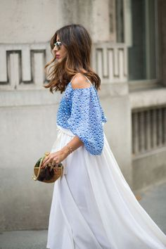 best streetstyle looks from Paris Couture Week Paris Couture, Couture Week, Couture Fashion, Couture Style, Capsule Wardrobe, Shoulder Off, Cold Shoulder, Shoulder Dress, How To Look Expensive