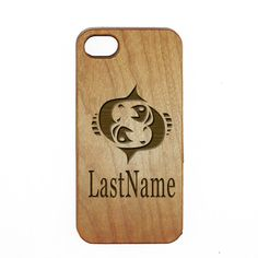 Pisces Wood Custom Last Name Cellphone Case https://womenslittletips.blogspot.com http://amzn.to/2lkg9Ua