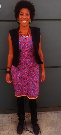 Lorena Santos usa vestido de chita da marca Lolita Az avessas.