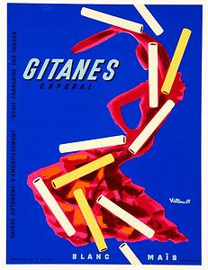 Vintage posters | Gitanes Cigarettes| classic posters