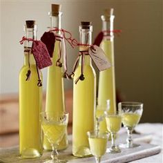 This is just like the Italian lemon liqueur limoncello, but made with clementines. It makes a great edible gift. Homemade Alcohol, Homemade Liquor, Christmas Food Gifts, Homemade Christmas Gifts, Christmas Hamper, Christmas Recipes, Homemade Gifts, Christmas Goodies, Xmas Gifts