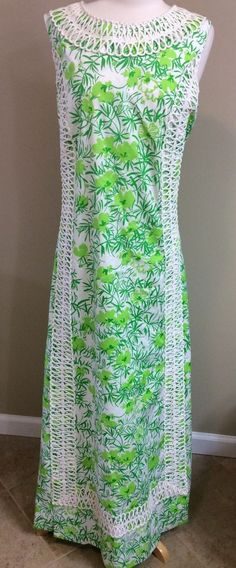 """LILLY PULITZER VTG VINTAGE MAXI SHIFT DRESS """"THE LILLY"""" 1960s SIZE XL PRISTINE!  #LillyPulitzer #Maxi"""