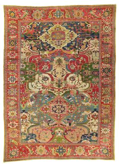 A large Ziegler carpet, Sultanabad district, west Persia, circa 1890. 21 ft 9 in x 14 ft 6 in (662 cm x 442 cm). Estimate £25,000-35,000. This lot is offered in Art of the Islamic and Indian Worlds Including Oriental Rugs and Carpets on 26 October 2017 at Christie's in London