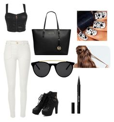 Black is me  by ivankkamartinez on Polyvore featuring polyvore, fashion, style, River Island, MICHAEL Michael Kors, Smoke & Mirrors and Stila