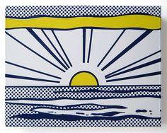 ROY LICHTENSTEIN - SUNRISE - JOSEPH K. LEVENE FINE ART http://www.widewalls.ch/artwork/roy-lichtenstein/sunrise/ #print