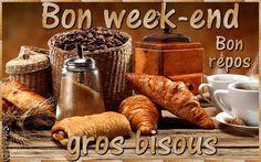 Bon week-end, Bon repos, gros bisous #bonweekend croissant pain au chocolat cafe peti dejeuner tradition