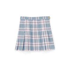 チェックシャツスカート (3,150 INR) ❤ liked on Polyvore featuring skirts, bottoms, blue, bubble skirt and blue skirt