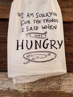 Dish Towel-Hungry