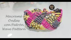 DIY Tutorial Macramé Ondas con Patrón/Ondas Pattern