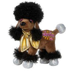 "Poodle Puppy Dog Ganz Webkinz Rockerz 8.5"" Plush Stuffed Animal Online Toy Brown #Ganz"