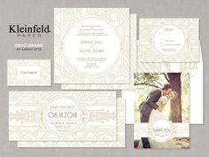 Deco Grand Invitations by KleinfeldPaper