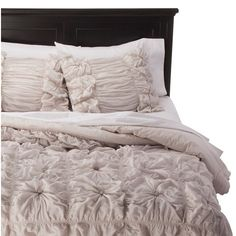 Rizzy Home Gray Knots Texture Comforter Set