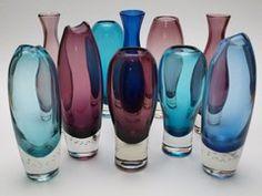 Aimo Okkolin Glass Bottles, Perfume Bottles, Colored Vases, Genie Bottle, Art Of Glass, Glass Birds, Antique Glass, Glass Design, Scandinavian Design