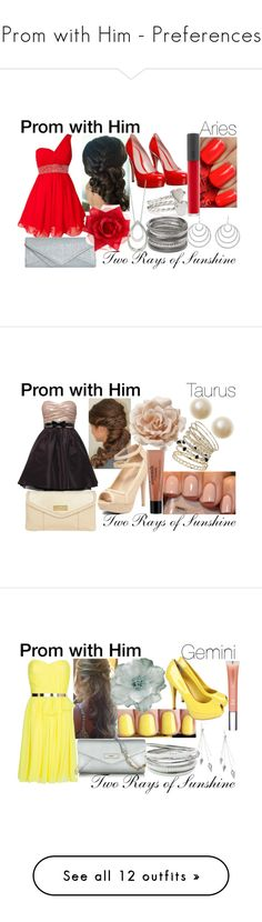 """""""Prom with Him - Preferences"""" by tworaysofsunshine ❤ liked on Polyvore featuring Forever 21, Little Mistress, Dorothy Perkins, Gucci, Bite, OPI, Johnny Loves Rosie, FOSSIL, Style Tryst and Rare London"""