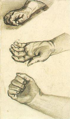 Vincent van Gogh: Three Hands,  Nuenen: December-May, 1884-85 (Amsterdam, Van Gogh Museum) F 1164v, JH 611