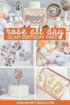 Kara's Party Ideas Rosé All Day Glamorous Birthday Party Birthday Themes For Adults, Adult Party Themes, Adult Birthday Party, 39th Birthday, Paris Birthday, Birthday Brunch, Teen Birthday, Birthday Nails, Birthday Ideas