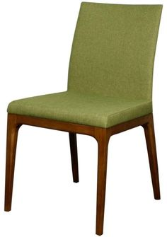 The Charles Side Chair is made of solid Ash wood and upholstered in a cleanable poly-blend fabric that features a sleek design that can work in any space. Dimen